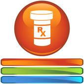Medicatie web pictogram — Stockvector