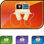 Defibrillator web icon — Stock Vector