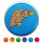 Griffon Button Set — Stock Vector
