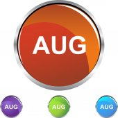 August web button — Stock Vector