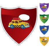 Yellow Taxi icon — Stock Vector