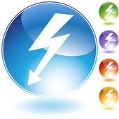 High Voltage Crystal Icon — Stock Vector