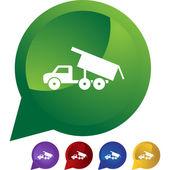 Dump Truck button — 图库矢量图片