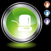 Ticker Tape  web button — Stock Vector