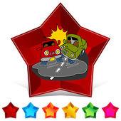 Car accident web icon — Vecteur