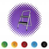 Step Ladder web icon — Stock Vector