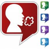Illness Speech Balloon Icon Set — Stock Vector