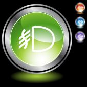 Fog Light web button — Stock Vector