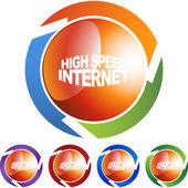 High Speed Internet sign — Stock Vector