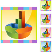 Gráfico de barras de seta — Vetor de Stock