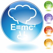 Energy Equation Crystal Icon — Stock Vector