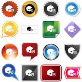 Football Helmet Variety Set — Stock Vector