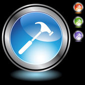 Botão de web de martelo — Vetor de Stock