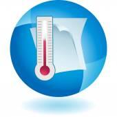 Temperature Document web icon — Stock Vector