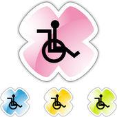Wheelchair web icon — Stock vektor