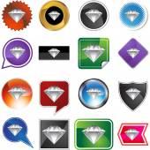 Botão de diamante web — Vetor de Stock