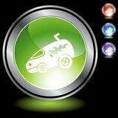 Hotrod Van web button — Stock Vector