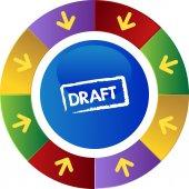Draft web icon — Stock Vector