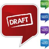 Draft web icon — Stock vektor
