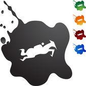 Icona di cavallo fantino — Vettoriale Stock