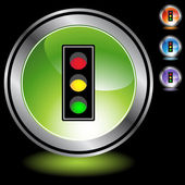 Traffic Light web button — Stock Vector