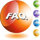 FAQ web icon — Vector de stock