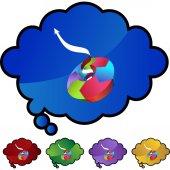 Biznes ikona sieci web wykresu — Wektor stockowy