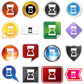 Hourglass timer variety icon set — Stock Vector