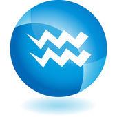 Symbol zvěrokruhu vodnář — Stock vektor