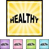 Sign Healthy web button — Stock Vector