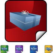 Gift Box  web button — Vector de stock