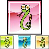 Rattlesnake web button — Stock Vector