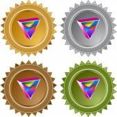 Gay Triangle icon button — Stok Vektör