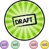 Draft web icon — Stockvector