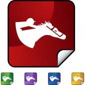 Horse jockey icon — Stock Vector