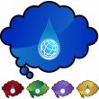 Water Drop World web button — Stock Vector #64220343