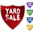 Yard Sale colorful icons — Stock Vector #64220353