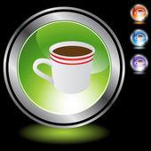 Coffee Cup  web button — Stock Vector