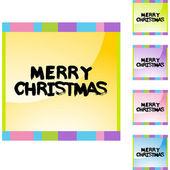 Christmas web icon — Vector de stock