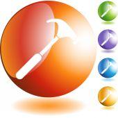 Çekiç web düğmesi — Stok Vektör