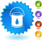 Paint Bucket web button — Stock Vector