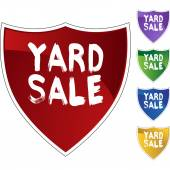Yard Sale colorful icons — Stock Vector