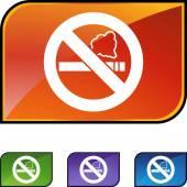 No Smoking button — Stock Vector