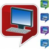 Иконка Интернет компьютер — Cтоковый вектор