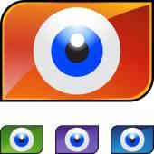 Eyeball web icon — Stock Vector