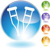 Crutch Crystal Icon — Stock Vector