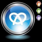 Pretzel web button — Stock Vector