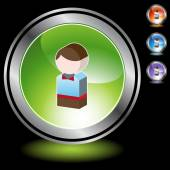 Kid web icon — Stock vektor