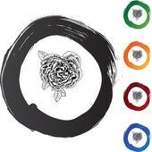 Rose Bloom web icon — Stock vektor