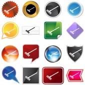 Rake Icon Set — Stock Vector